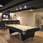 la sala giochi nella tavernetta