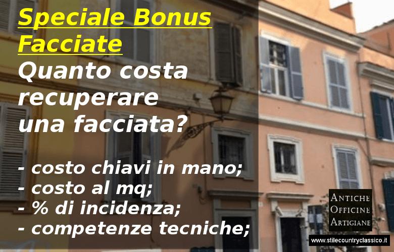 Bonsu facciate, quanto costa ristrutturare una facciata