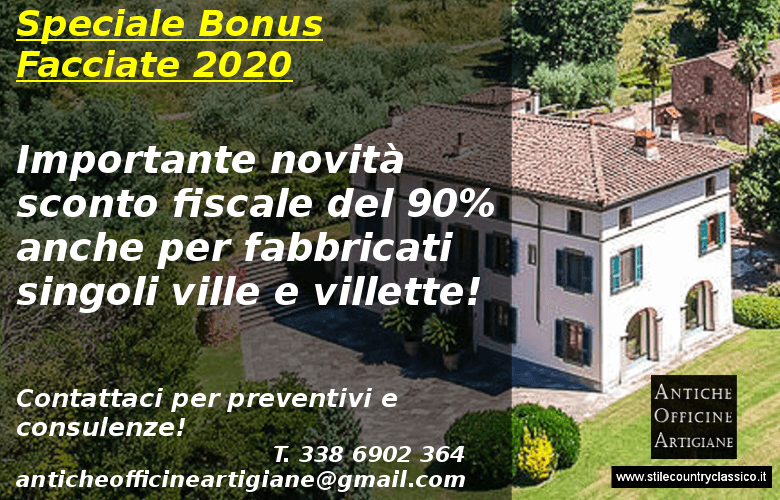 Bonus facciate sconto fiscale anche per le case isolate