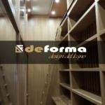 Wine room deforma design del legno