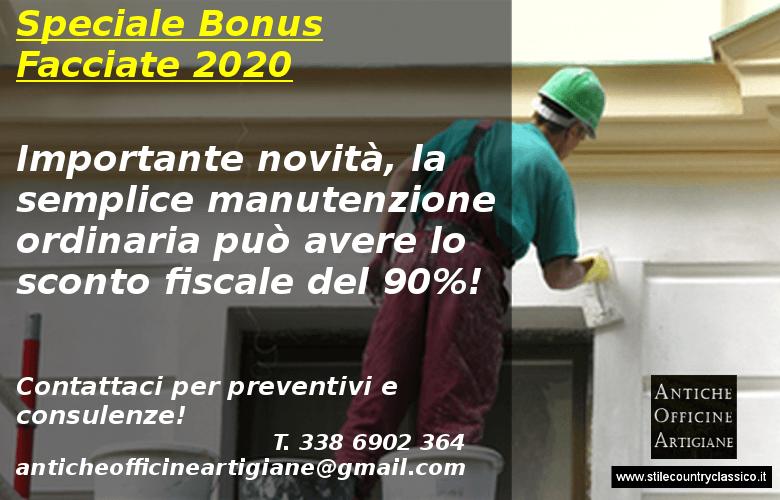 Bonus facciate la manutenzione ordinaria può avere il bonus 2020